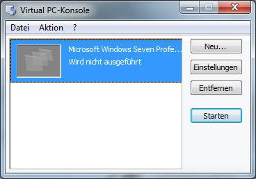 Virtual PC-Konsole