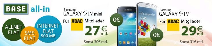 eteleon - BASE all-in mit Samsung Galaxy S4