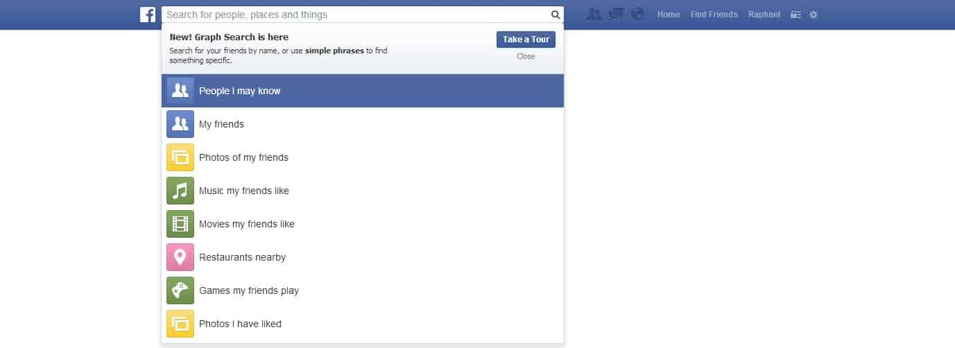 Facebook - Neues Design - August - Graph and Search