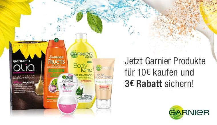 Amazon - Garnier Sofort-Rabatt