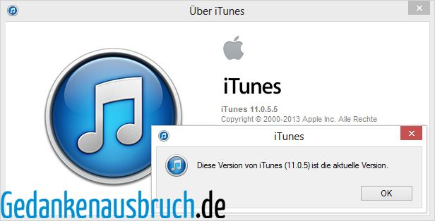 iTunes - Über iTunes - Version 11.0.5