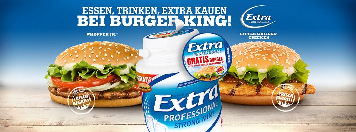 Wrigleys Extra Professional - Burger King-Gutschein