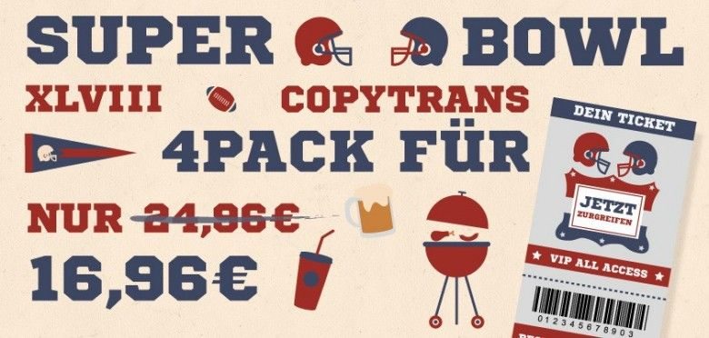 CopyTrans SuperBowl Angebot, Aktion, Gutschein