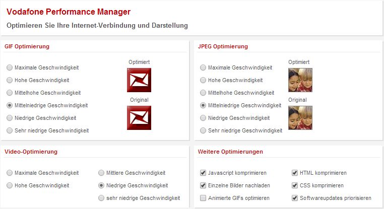 vodafone performance manager