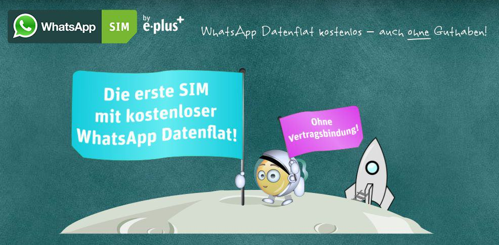 E-Plus - WhatsApp SIM - © eplus.de/whatsapp