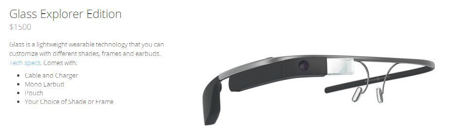 Google Glass Explorer Edition - 1500$