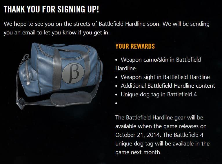 Battlefield Hardline - Beta Bonus-Pack