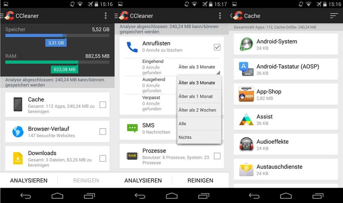 CCleaner Android-App
