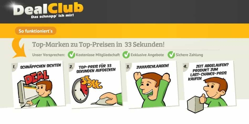DealClub - Header - Informationen