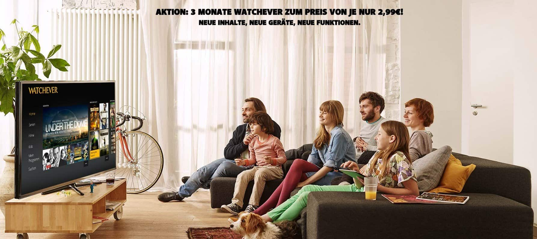 Watchever - Landing-Aktion - Drei Monate für 2,99 Euro