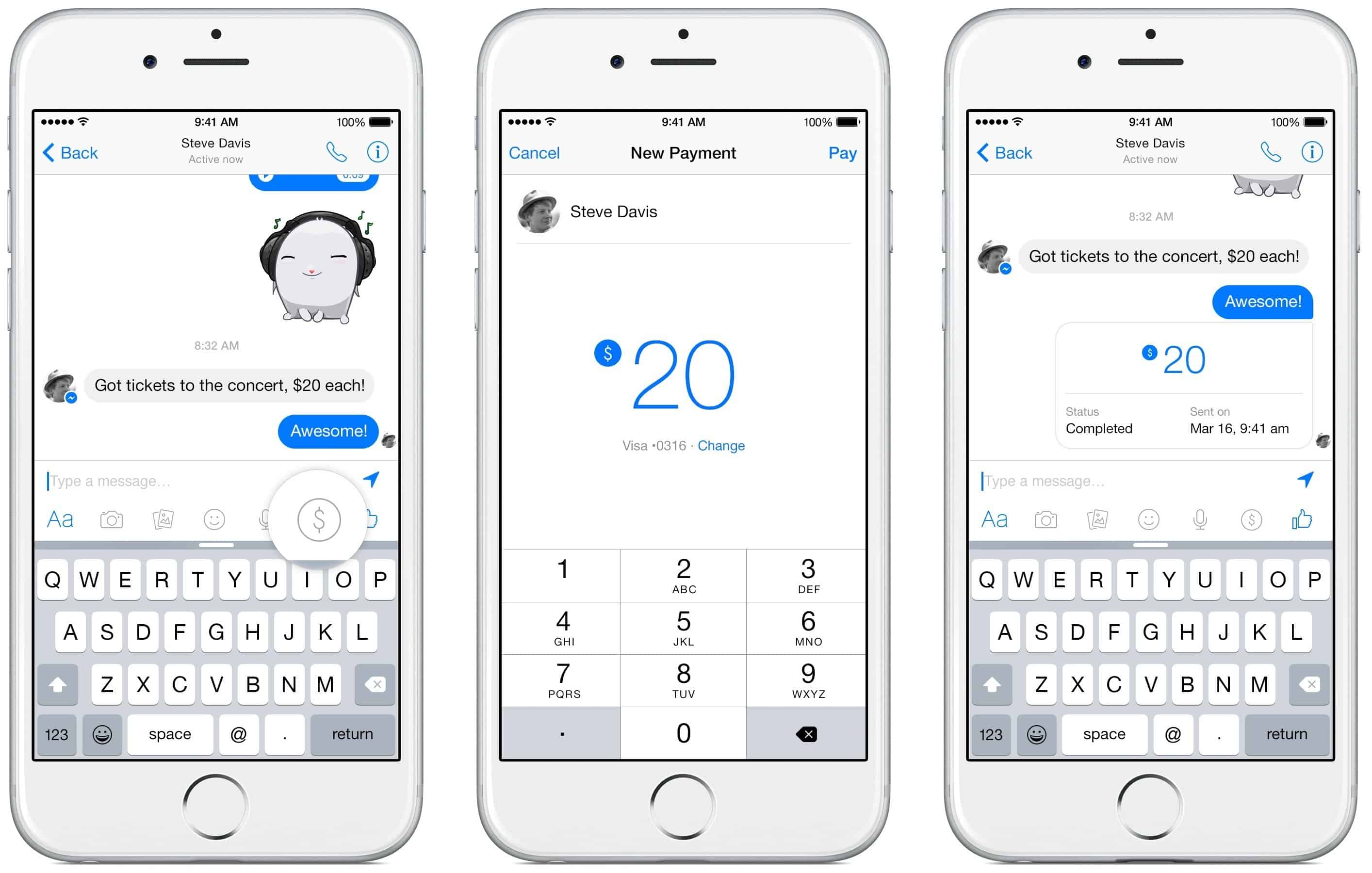Facebook Messenger - Payments