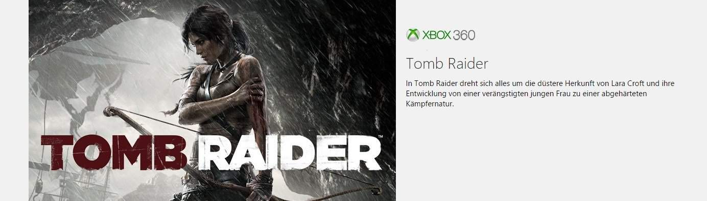 Microsoft - Xbox - Games with Gold - Tomb Raider - Xbox 360