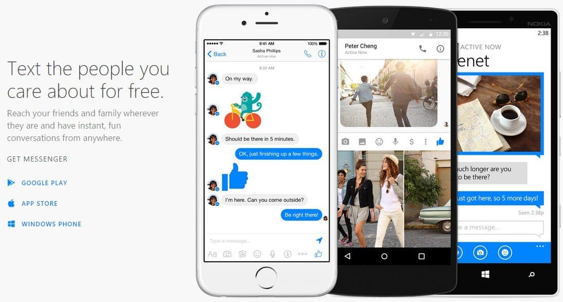 Facebook Messenger - Homepage