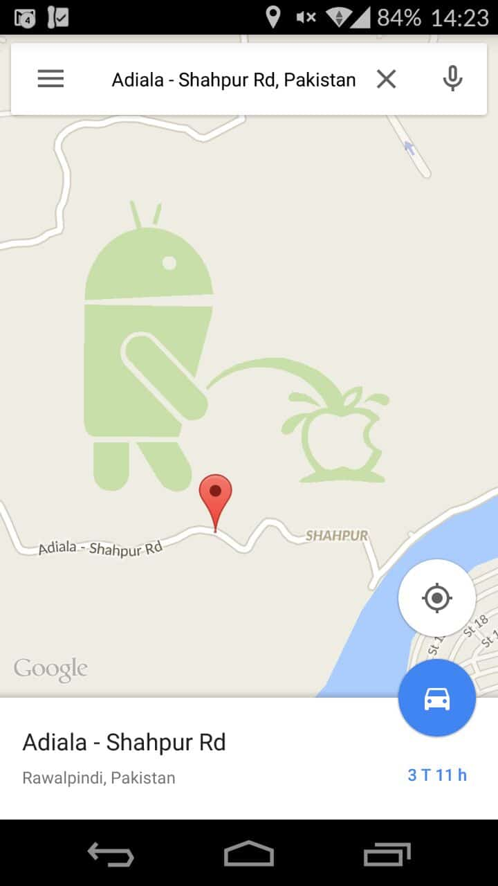 Google Maps - Android, Apple - Adiala - Shahpur Rd, Pakistan