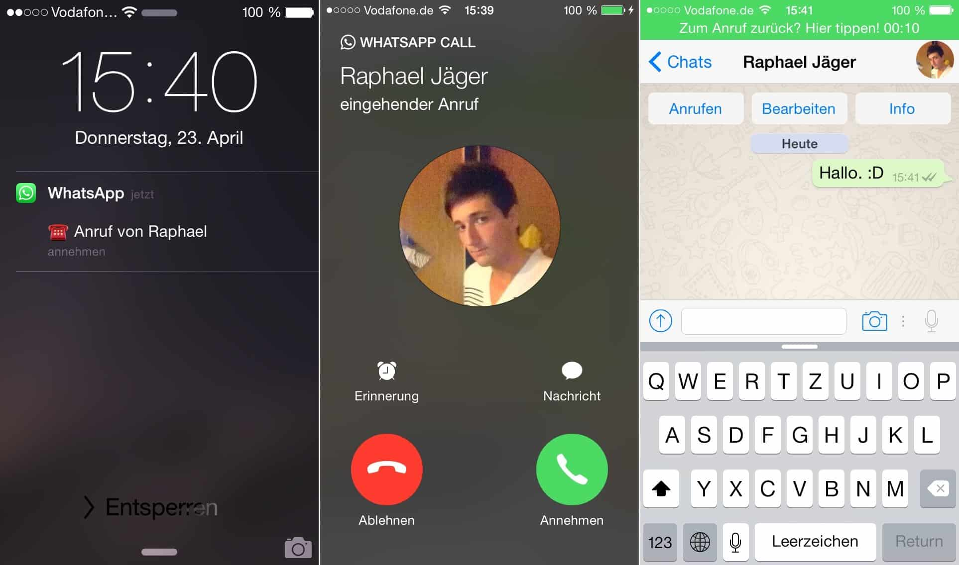 WhatsApp Call - iOS Anruf