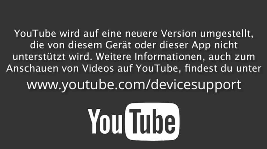 YouTube - API-Umstellung - Device