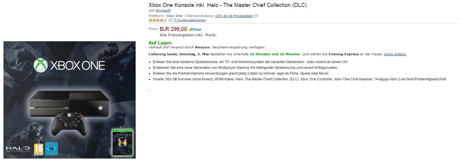 Amazon - Xbox One Konsole - Headset - Halo The Master Chief Collection