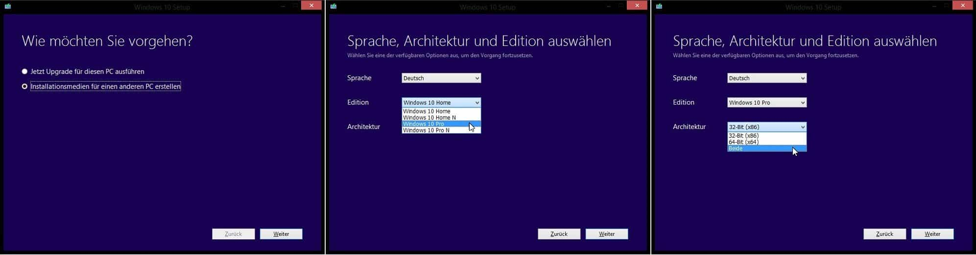 Windows 10 - Download, Upgrade-Version, .iso-Download