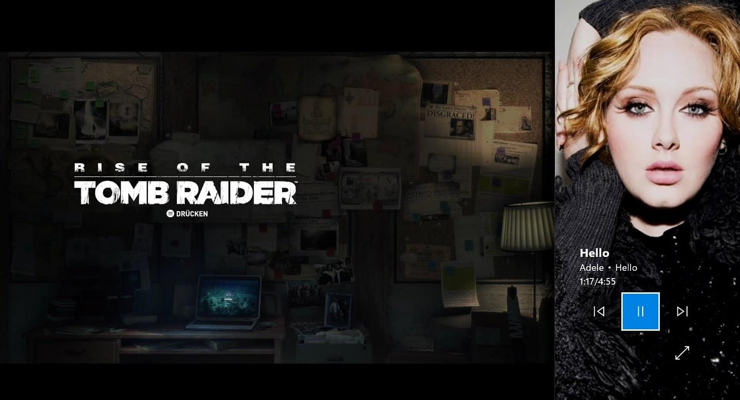 Xbox One - Rise of the Tomb Raider - Groove Snap-Mode