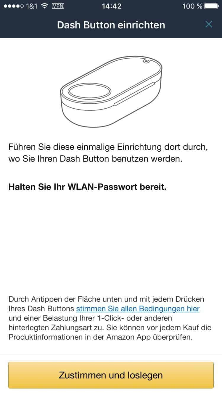 amazon ios app dash button einrichten
