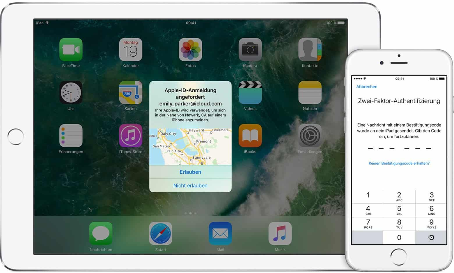 Apple - iPad, iPhone - Verifikation - Login