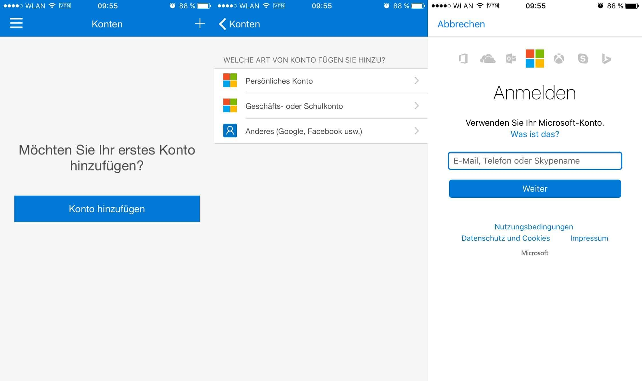 Microsoft Authenticator-App - Smartphone - iOS