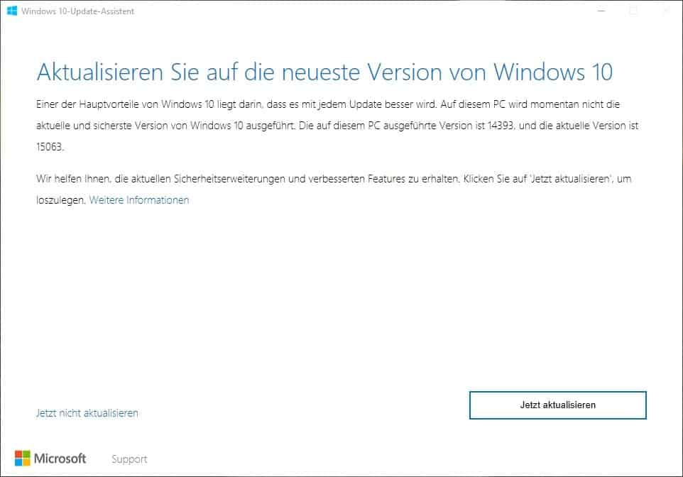 Windows 10 Upgrader - Update Assistent