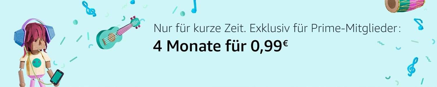 Amazon Music Unlimited - Amazon Prime - 0,99 Euro für vier Monate