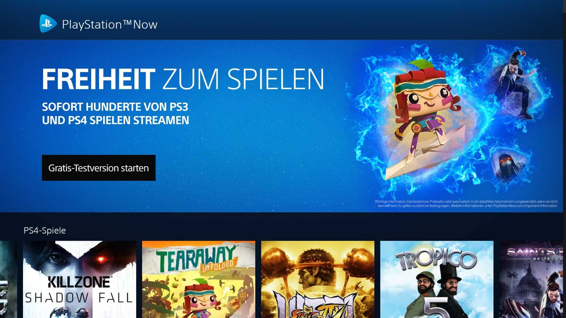 Sony PlayStation Now - Windows Desktop-Client