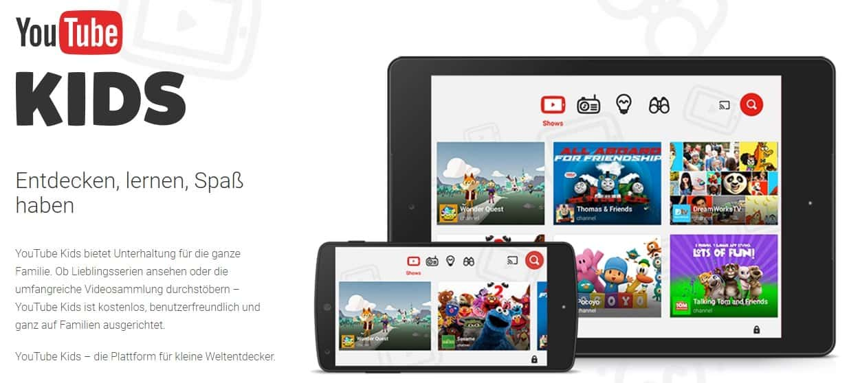 YouTube Kids - Startseite