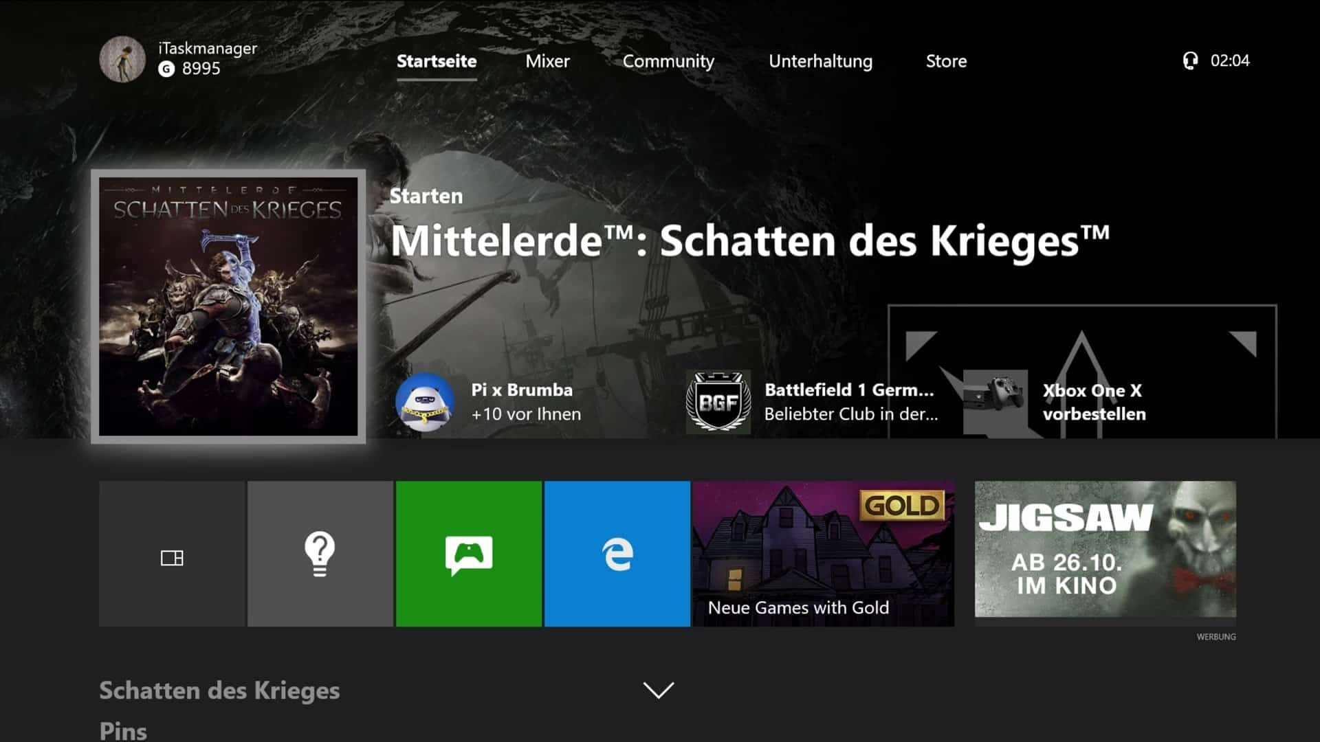 Xbox One - Dashboard - rs3_release_xbox_dev_1710.171012-1520