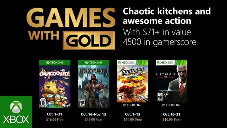 Microsoft - Xbox - Games with Gold - Oktober 2018