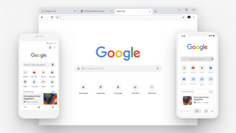 Google Chrome Browser - Desktop - Smartphone-App