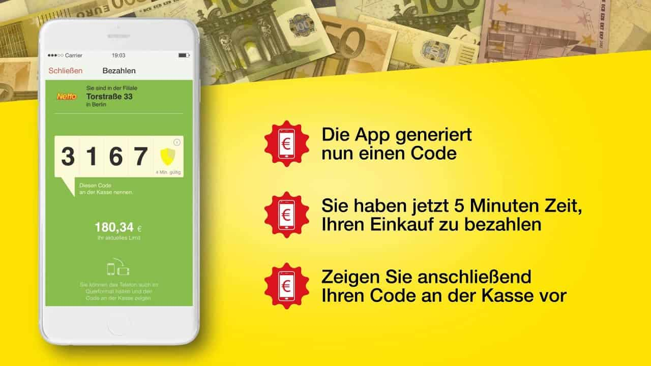 Netto Marken-Discount - Smartphone-App - Bezahlen - iOS - iPhone