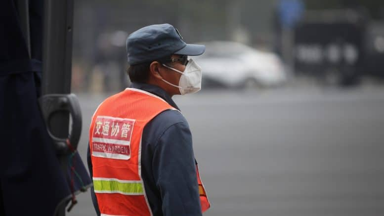 Traffic Warden - Verkehrspolizist - Verkehrsposten - Politesse - Maske - China